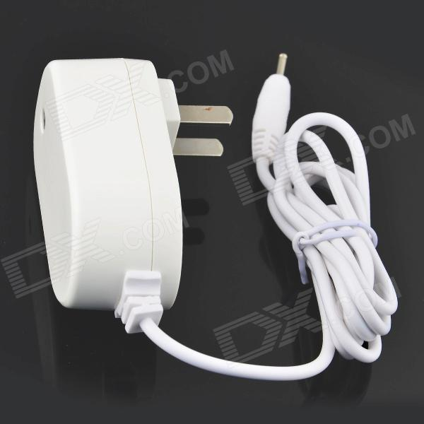 ALLFINE ZNC-008 AC Power Charger Adapter for Tablet PC - White (US Plug, 100~240V, 2.5 x 1.0mm) 3 port usb ac uk plug power adapter for mobile phone tablet pc white 100 240v