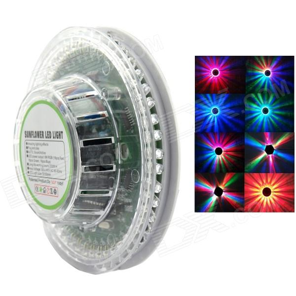 XL-17 8W 48-LED RGB Sound-Activated Sunflower Stage Light - Transparent + White (90~240V) new d19 sound activated 5w 48 led rgb crystal magic sunflower light white
