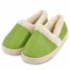 HQS-G105645 Woman's Stylish PU Surface Warm Lint Lining Shoes - Green (Size 37 / Pair)