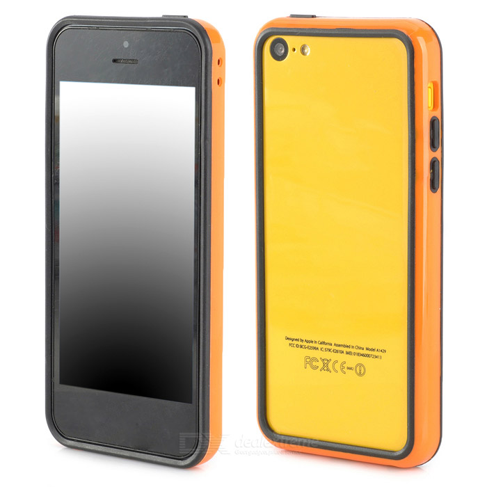 Protective ABS + Silicone Bumper Frame for Iphone 5C - Orange + Black ipega i5056 waterproof protective case for iphone 5 5s 5c orange yellow