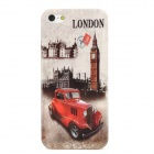 Retro London View Pattern Protective Plastic Back Case for iPhone 5 - Multicolored