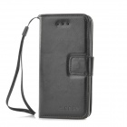 Protective PU Leather Holder Case w/ Card Slot for iPhone 5c - Black