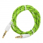 3.5mm macho a macho conexión de audio de nylon Cable - Verde + Negro + blanco (1m)