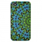 Flower Wheel Pattern Stylish Plastic Back Case for Iphone 4 / 4S - Multicolored