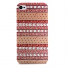 Leaves Pattern Stylish Plastic Back Case for iPhone 4 / 4S - Multicolored