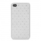 Stylish Plastic Back Case for Iphone 4 / 4S - White
