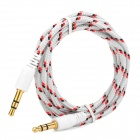 3.5mm Male to Male Audio Connection Nylon Cable - White + Red + Black (1m)