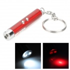 Doglemi DC1002 5mW Red Laser Point w/ 1-LED White Flashlight for Play With Cat - Red (3 x LR41)