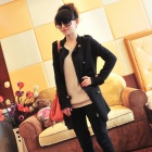 Woman's Stylish Comfortable Cotton Jacket - Black