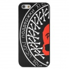 Bones Pattern Stylish PC Back Case for Iphone 5 - Black + White + Red
