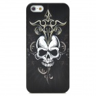 Creative Skull Pattern PC Back Case for Iphone 5 - Black