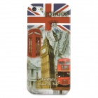 BIG BEN and Double-deck Bus Pattern Protective Plastic Back Case for Iphone 5 - Multicolored