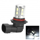 SENCART 9006 5W 280lm 9000K 16-5730 SMD LED Cool White Fog Lamp - Silver + Black (Rated voltage)