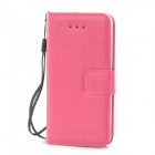 Protective PU Leather Case w/ Card Slots for iPhone 5c - Deep Pink