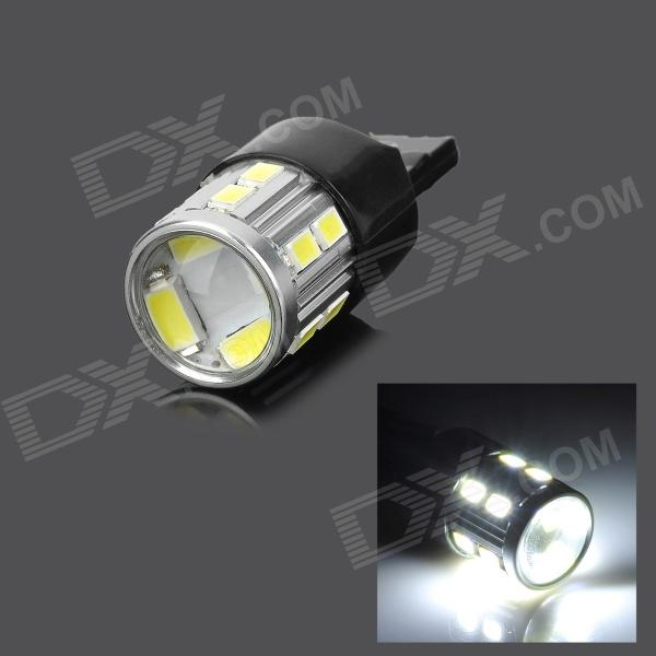 SENCART 7440 5W 280lm 9000K 16-5730 SMD LED Cool White Brake / Tail Lamp - Silver + Black (12~24V) lexing lx r7s 2 5w 410lm 7000k 12 5730 smd white light project lamp beige silver ac 85 265v