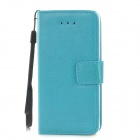 Protective PU Leather Flip Open Case w/ Card Slots for iPhone 5c - Blue