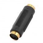 ShangHeZhong S-Video Female to Female Adapter - Black + Golden