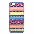 Retro Tribal Pattern Protective Platic Back Case for Iphone 5 - Multicolored
