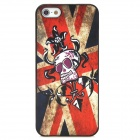 Skull Pattern Stylish PC Back case for Iphone 5 - Multicolored