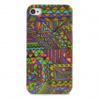 Tribal  Floral Style Protective Plastic Back Case for Iphone 4 / 4S - Multicolor