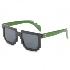 CARSHIRO 77267 Stylish Mosaic Style Frame UV400 Sunglasses - Black + Green