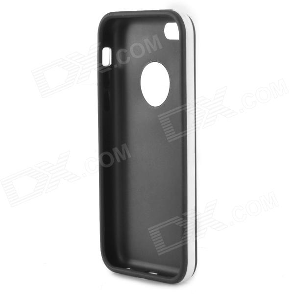 Detachable Protective TPU Back Case for Iphone 5C - Black + White pc tpu protective back case for iphone 5 black white