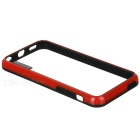 Protective Plastic Bumper Frame Case for Iphone 5C - Black + Red