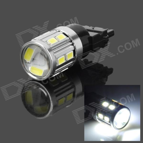 SENCART 3156 5W 280lm 9000K 16-5730 SMD LED Cool White Brake / Tail Lamp - Silver + Black (12~24V) lexing lx r7s 2 5w 410lm 7000k 12 5730 smd white light project lamp beige silver ac 85 265v