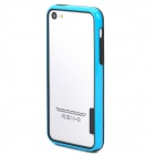 Protective Plastic Bumper Frame Case for Iphone 5C - Black + Blue