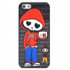 Skull Man Pattern Stylish PC Back Case for Iphone 5 - Black + Red