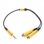 ShangHeZhong 1-to-2 3.5mm Male to Female Audio Share Adapter Cable - Black + Golden