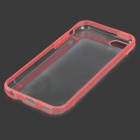 Protective Plastic Back Case for Iphone 5C - Red + Transparent