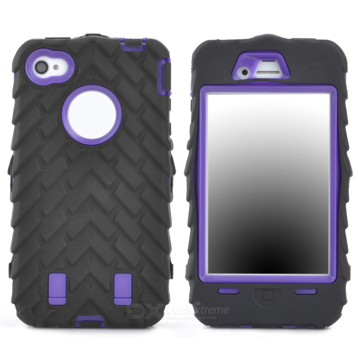 все цены на Detachable Protective Silicone + PC Case for Iphone 4 / 4S - Black + Purple онлайн