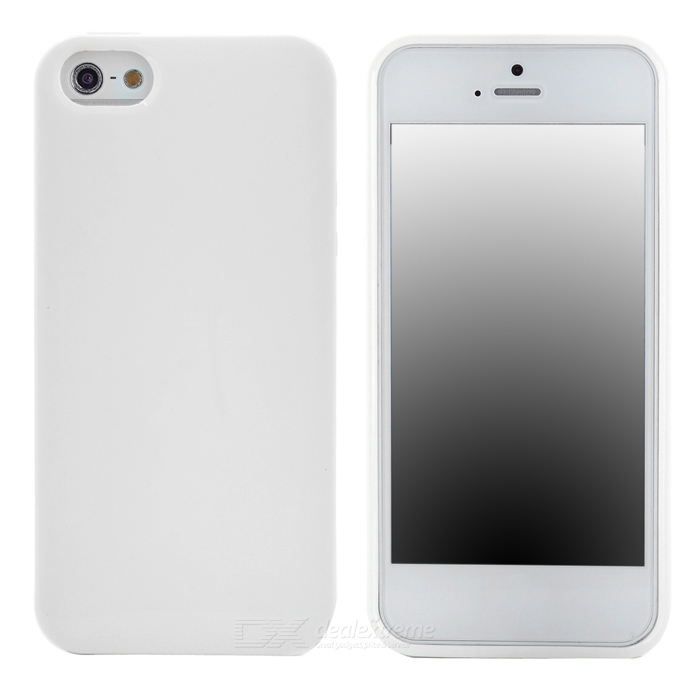 Ultra-Slim Stylish PVC Back Case for Iphone 5 - White ultra slim clear phone cases for samsung galaxy s6