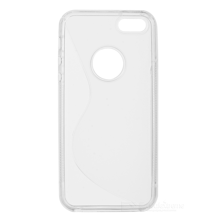 S Shaped Protective TPU Back Case for Iphone 5 - White