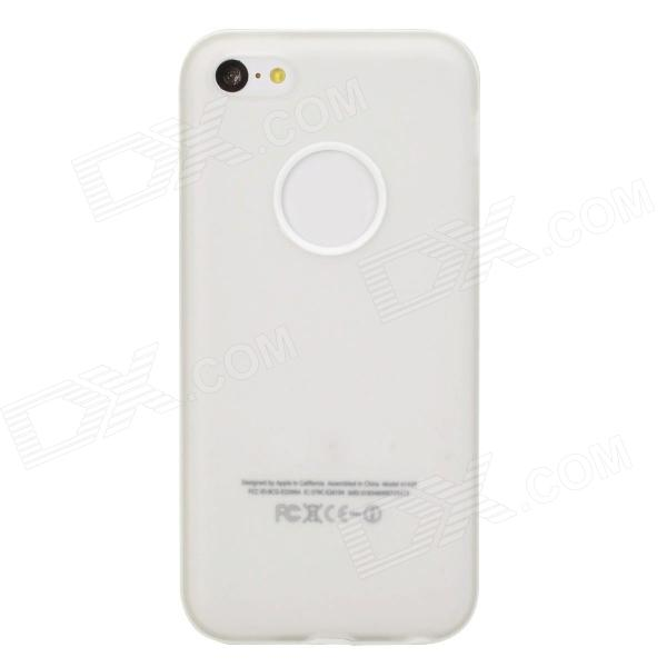 Protective TPU Soft Back Case for Iphone 5C - Translucent White protective silicone case for nds lite translucent white