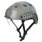 Tactical Wargame / Motorcycling Helmet w/ Eye Protection Glasses - Grey + Black (Size +L7)