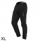 VEOBIKE Outdoor Cycling Men's Thickened Fleece Sweatpants w/ Silicone Pad - Black (Size XL)