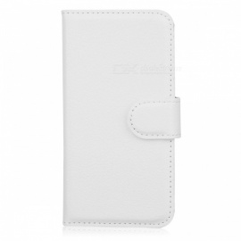 Protective PU Leather Case Cover Stand w/ Card Slots for Iphone 5C - White