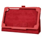 Elegante Flip-open Litchi Pattern PU Leather Case w / Holder para Google Nexus 7 II - Vermelho
