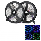 72W 3000lm 600-3528 SMD LED RGB Light Car Decoration Lamp Strip - Black + White (2PCS / Total 10m)