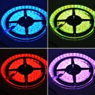 Waterproof 4Pin 72W 4300lm 300-5050 SMD LED RGB Light Car Decoration Lamp Strip - Black + White (5m)