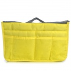 Stylish Water Resistant Nylon Storage Organizer Bag w/ Handle - Yellow