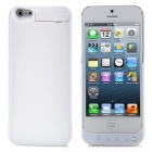 Rechargeable 4200mAh External Back Case Battery for iPhone 5 - White