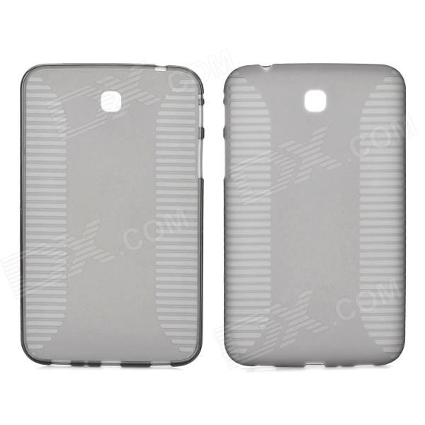 Stylish Anti-slip Flexible TPU Back Case for Samsung Galaxy Tab 3 P3200 - Translucent Tawny