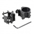 KDP021 Universal 12.5mm~23mm Picatinny Rail + 25.4mm 20-neck Aluminum Alloy Weaver Clip - Black