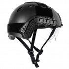 Tactical Wargame / Motorcycling Helmet w/ Eye Protection Glasses -  Black (Size +L7)