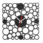 GeekCook GK1310014 Cell Division Pattern Wanduhr - Schwarz (1 x AA)