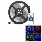 36W 1500lm 300-3528 SMD LED RGB Car Decoration Lamp Strip w/ Remote Control - Black + White (5m)