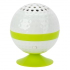 KHF301 Mini Golf Ball Shape Bluetooth V3.0 Music Speaker - Green + White